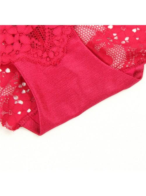 Petite culotte en résille fleurie très chic | Noir, rose pastel ou framboise | Donna