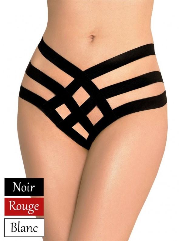 Culotte haute à bandes | Noir, rouge ou blanc | Taïssa