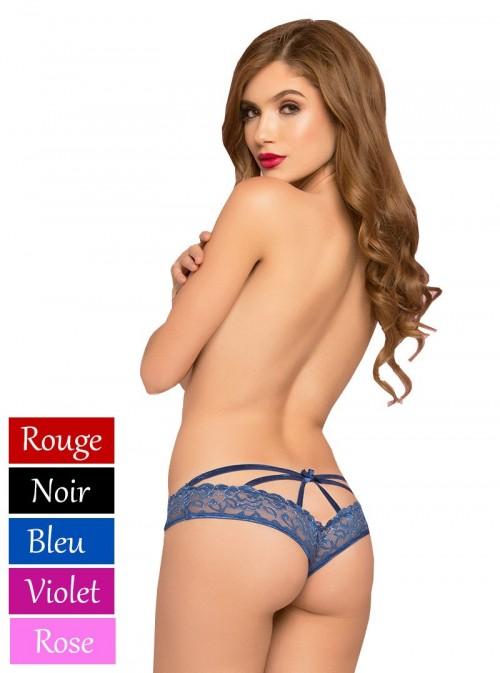 Culotte sexy brillante, ouverte et fendue à l'entrejambe | Romy