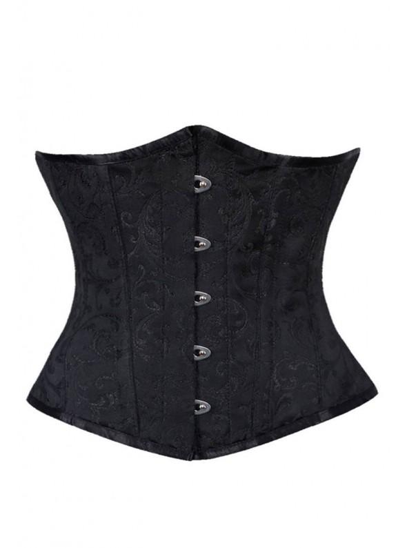 Corset serre taille noir | grandes tailles jusqu'au 48/50/52 | Elisia