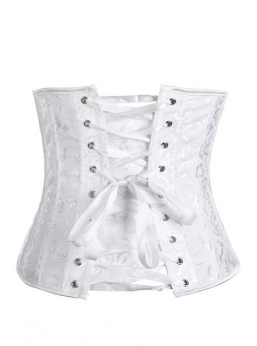 Corset serre-taille chic blanc | Grandes tailles jusqu'au 48/50/52 | Tania