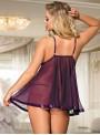 Nuisette violette voile transparente | Courtney