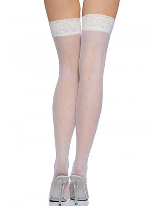 Bas tops blancs opacité 20 DEN | Lily