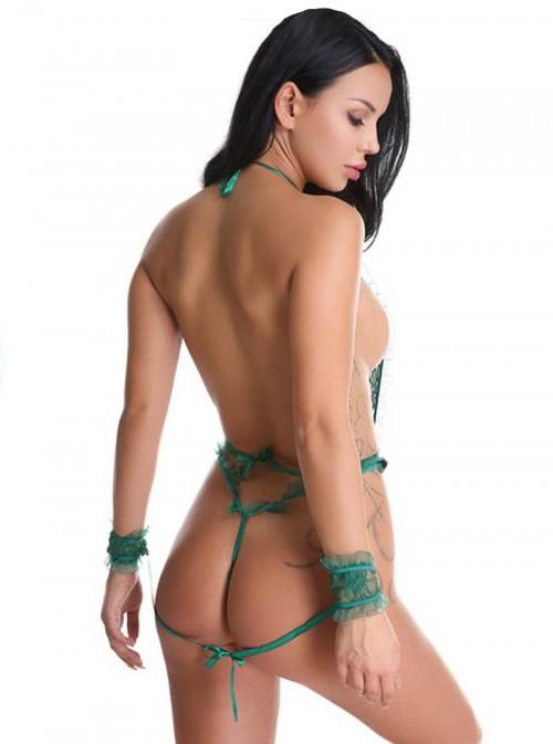 Body dentelle érotique vert émeraude | Vera